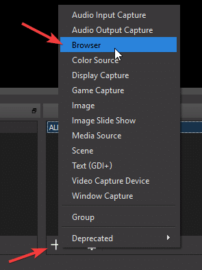 Add Browser Source